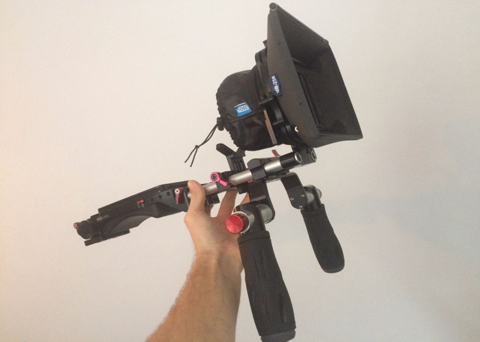 Universal Camera shoulder rig with Mattebox and handles - 1