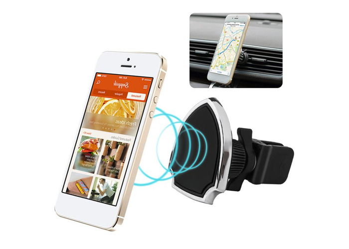 Universal Strong Magnetic 360 Degree Rotation Car Mount Air Vent Phone Holder Stand for Mobile Phone - 1