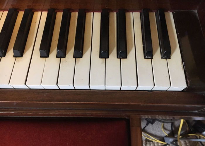 Upright Piano - E. Wheatland & Sons London & Piano Stool  - 2