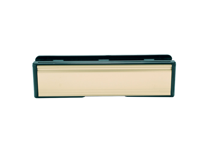 UPVC Letter Box - 265mm Wide - 250mm Gold - 1