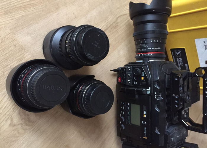 URSA Mini Pro 4.6k and Set of Samyang Cine Lenses - 1