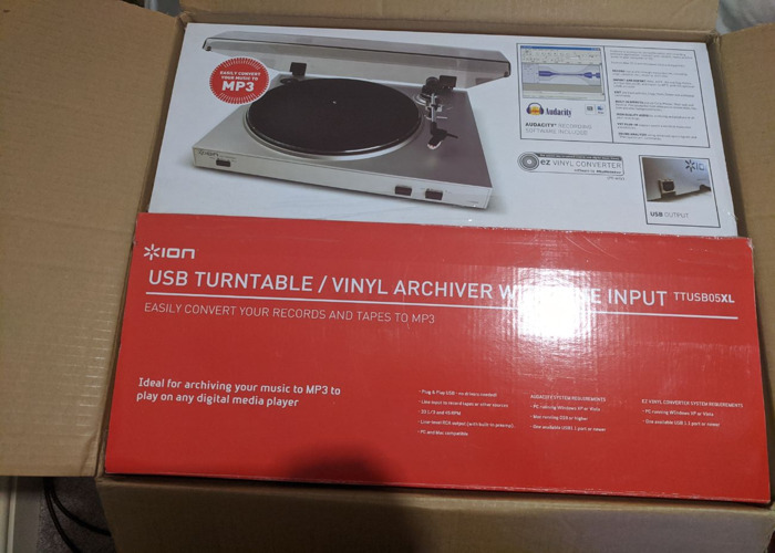 USB Turntable / Vinyl Archiver / Player WITH Line Input - 1