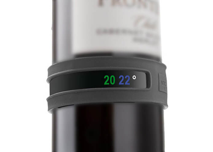 Vacu Vin 3630360 - Customizable Thermometer for wine bottles , dark gray - 1