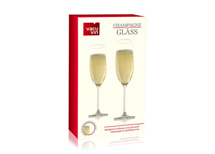 Vacu Vin Champagne Glass (21 cl / 7.25 oz) - Set of 2 - 2