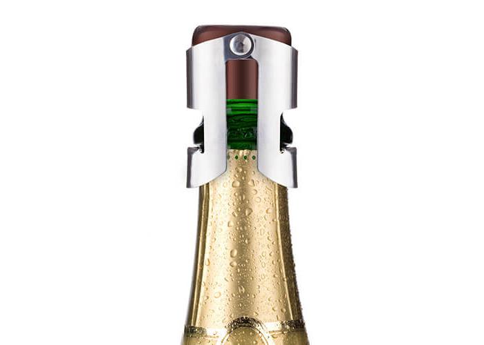 Vacu Vin Champagne Stopper, Brown/Silver - 2