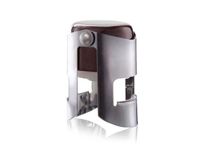 Vacu Vin Champagne Stopper, Brown/Silver - 1