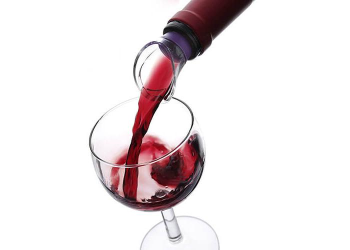 Vacu Vin Crystal Wine Server / Pourer, Set of 2 - Purple / Pink - 2