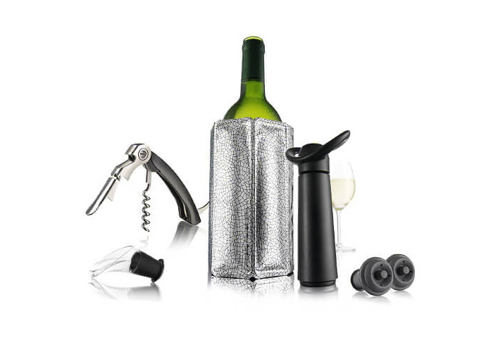 Vacu Vin Wine Essentials Gift Set - Black - 1