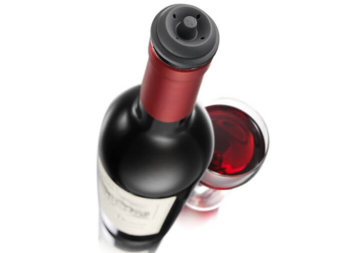 Vacu Vin Wine Saver Concerto Pump with 4 x Vacuum Bottle Stoppers - Black - 2