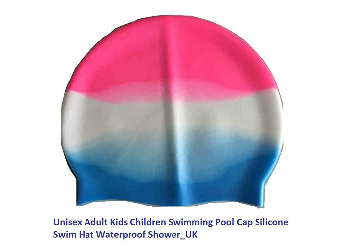 Value for Money Adult Kids Children Swimming Pool Cap Silicone Swim Hat Waterproof Shower (3) - 1