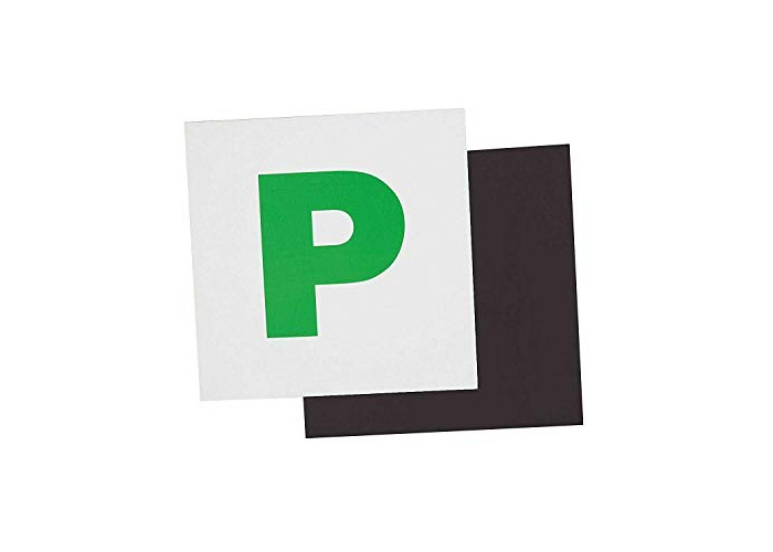 Value For Money Fully Magnetic Green P Plate Strong Sticker NEW BRAND-UK (1) - 1