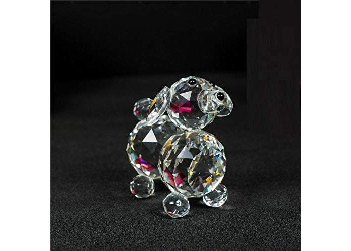 Value For Money Puppy Dog Crystal Cut & Swarovski Element Inside Base with Gift Box Tough adorable (2) - 1