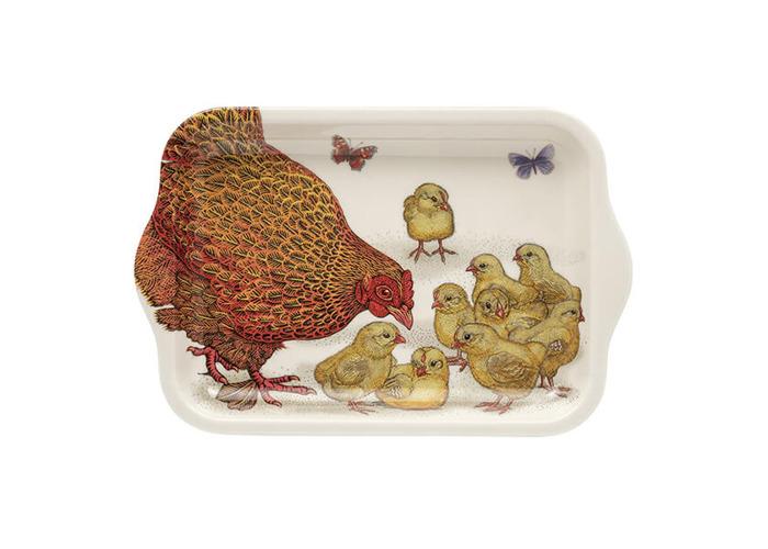 Vanessa Lubach Chickens Small Melamine Tray - 1