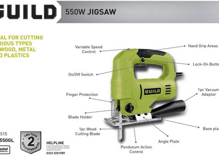 Variable Speed Jigsaw - 550W - 2