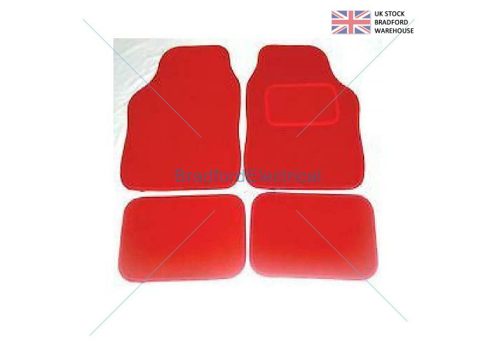 VAUXHALL ASTRA GTC 2010 ON  - UNIVERSAL Car Floor Mats red Carpet & RED Trim - 1