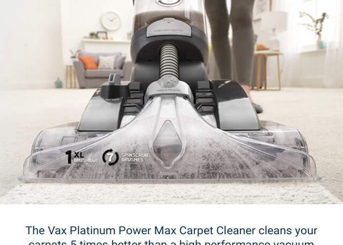 Vax Platinum Max Carpet Washer  - 2