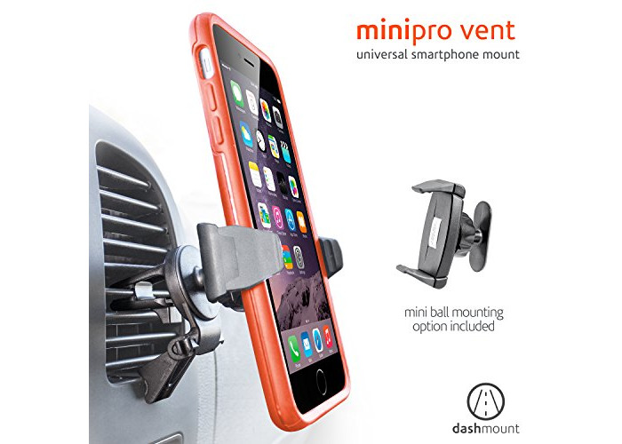 Ventev 552744 3.06-Inch Minipro Vent Car Mount - Black - 1