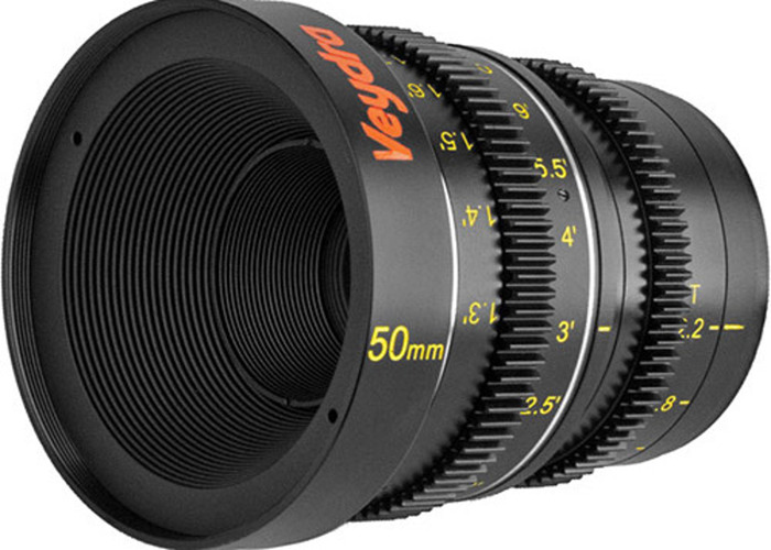 Veydra MFT Mini Primes 4 set with Bright Tangerine Matte box and Follow Focus - 2