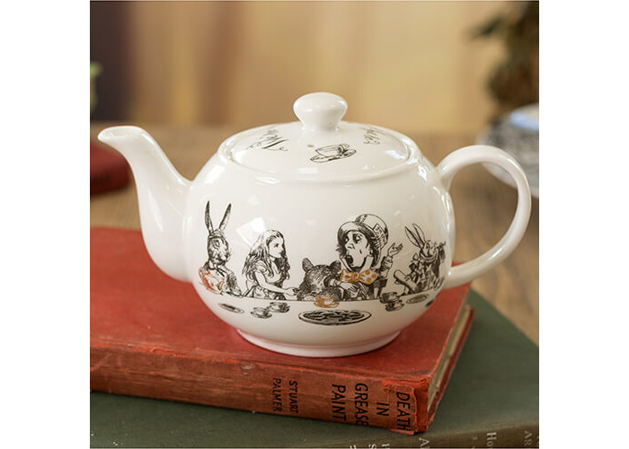 Victoria & Albert Alice in Wonderland Mini Teapot, White - 2