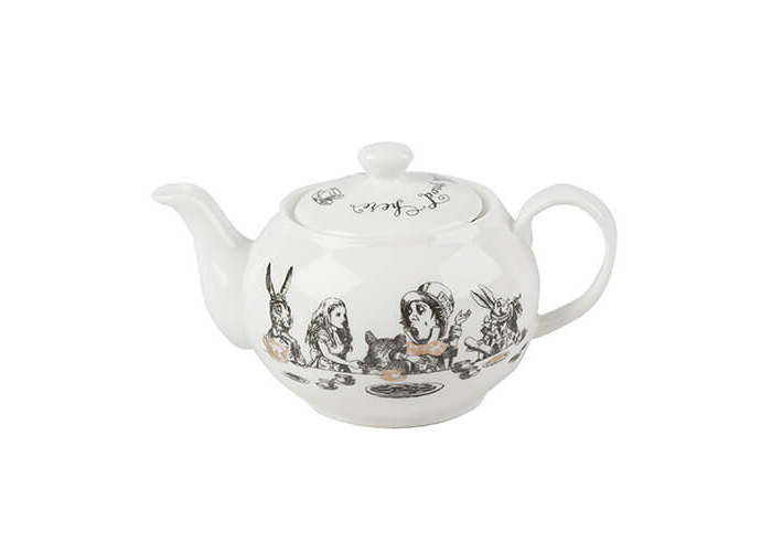 Victoria & Albert Alice in Wonderland Mini Teapot, White - 1