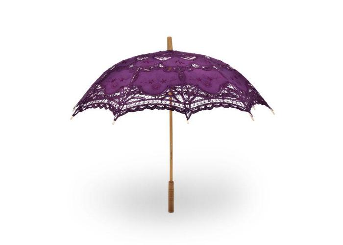 Buy Victorian Battenburg Lace Sun Parasol Umbrella for ...
