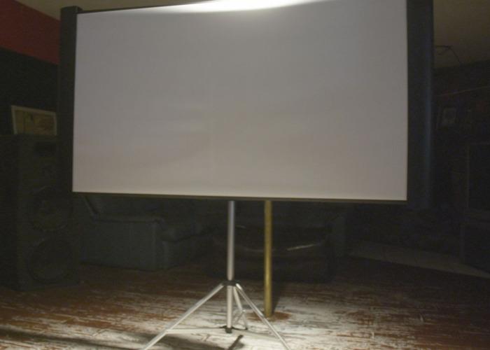 "VIDEO - 80"" Projection Screen Rental - 1"