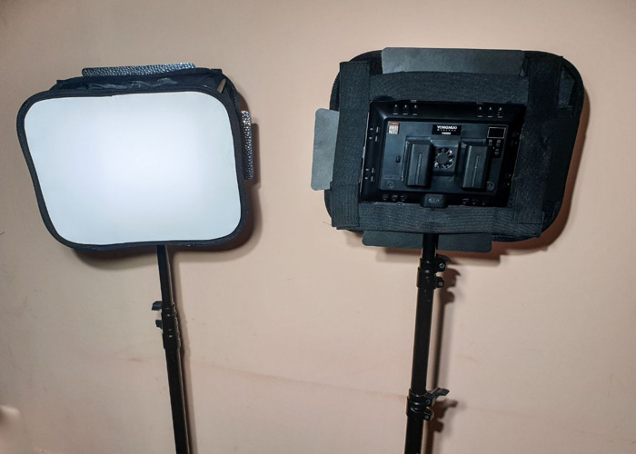 Video LED Lights, Battery powered,  - Soft Box - Battery, Dimmable 3200-5500K - 2