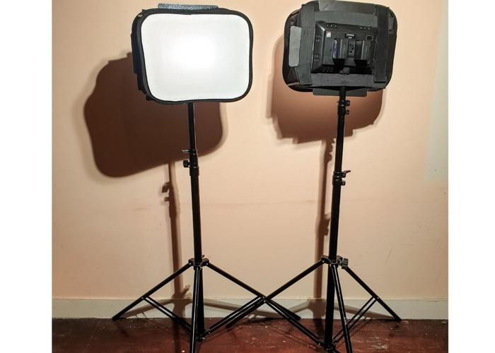 Video LED Lights, Battery powered,  - Soft Box - Battery, Dimmable 3200-5500K - 1