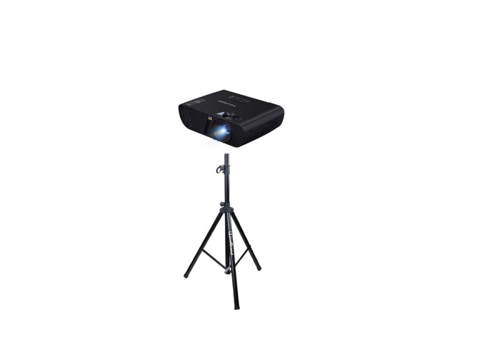 View Sonic projector 3200 lumens and projector stand 360 - 1