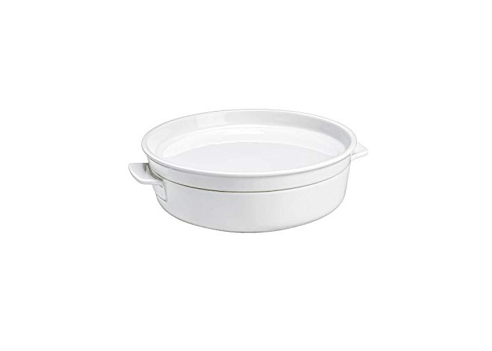 Villeroy & Boch Clever Cooking Round Baking Pan with Lid, 2 Pieces, 24 cm, Premium Porcelain, White - 1