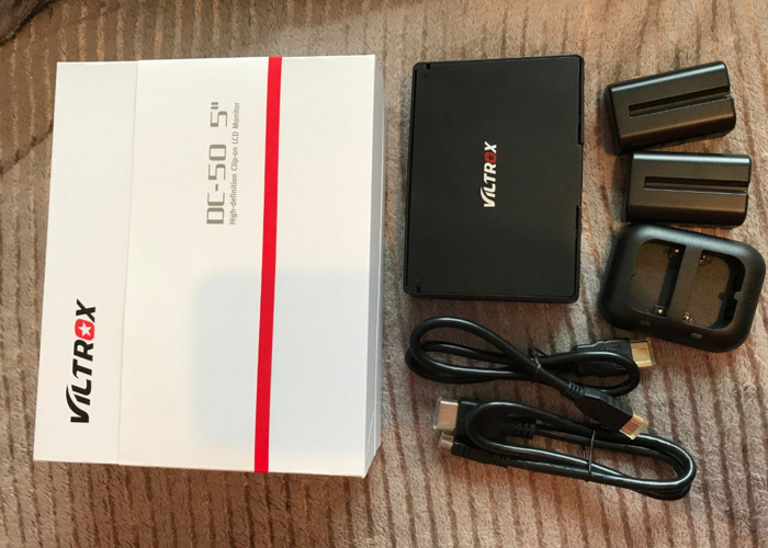 "Viltrox 5"" inch DSLR Field Monitor Screen HDMI BUNDLE - 2"