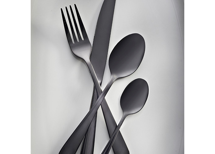 Viners Exclusive Black Titanium Coated 16 Piece Cutlery Set - 1