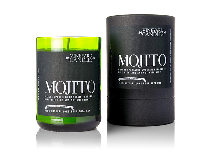 Vineyard Wine Bottle Mojito Cocktail Candle - 2