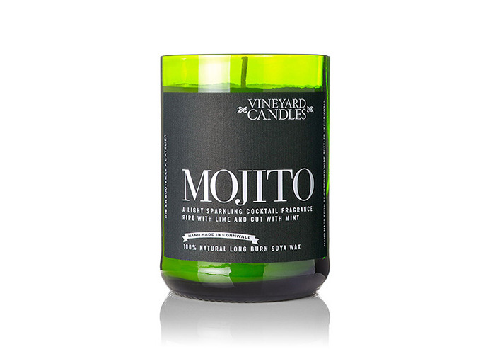 Vineyard Wine Bottle Mojito Cocktail Candle - 1