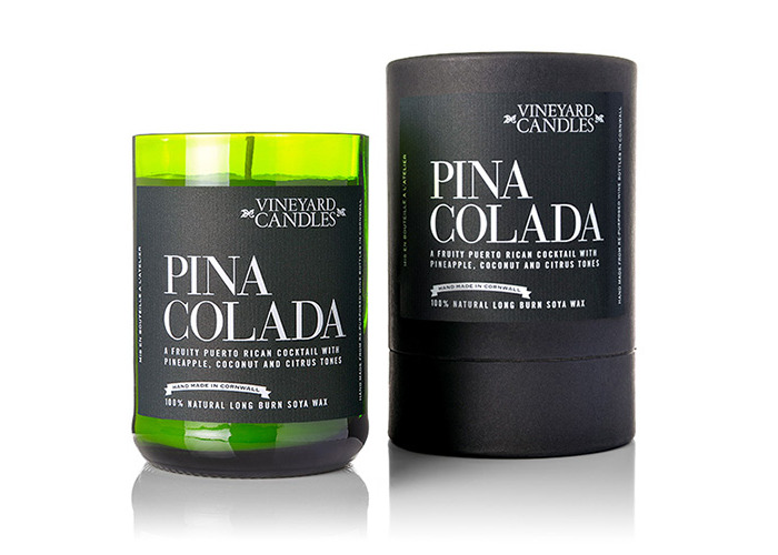Vineyard Wine Bottle Pina Colada Cocktail Candle - 2
