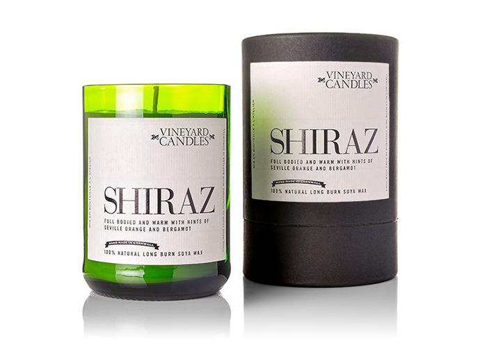Vineyard Wine Bottle Shiraz Candle - 2
