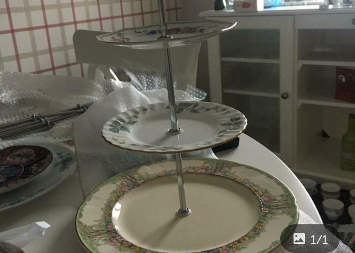 Vintage Afternoon Tea set with cake stands - 2