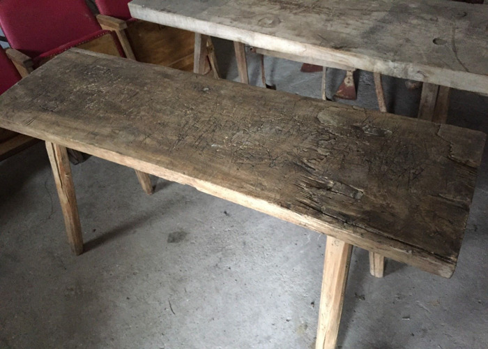 1 VINTAGE Butchers Block Table Furniture, Side Board Timber (2 available) - 2
