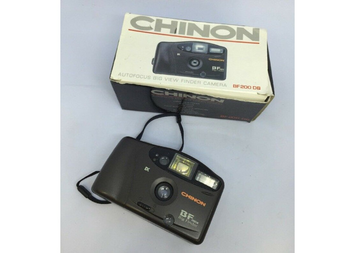 VINTAGE CHINON BF 200DB BIG FINDER CAMERA With BOXED!  - 1