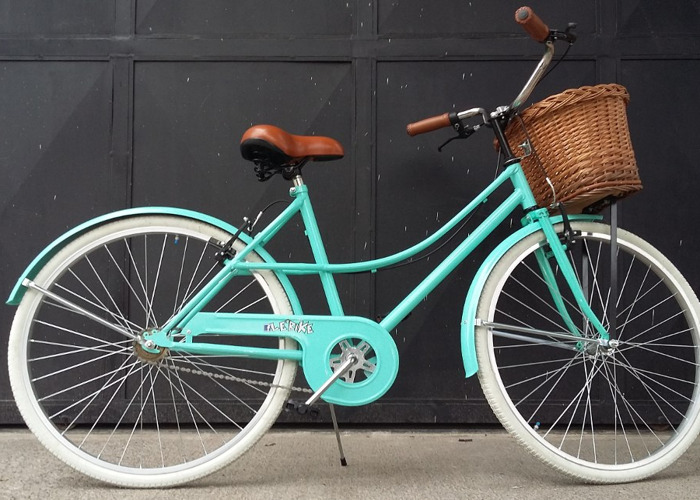 Vintage Green Bicycle - 1