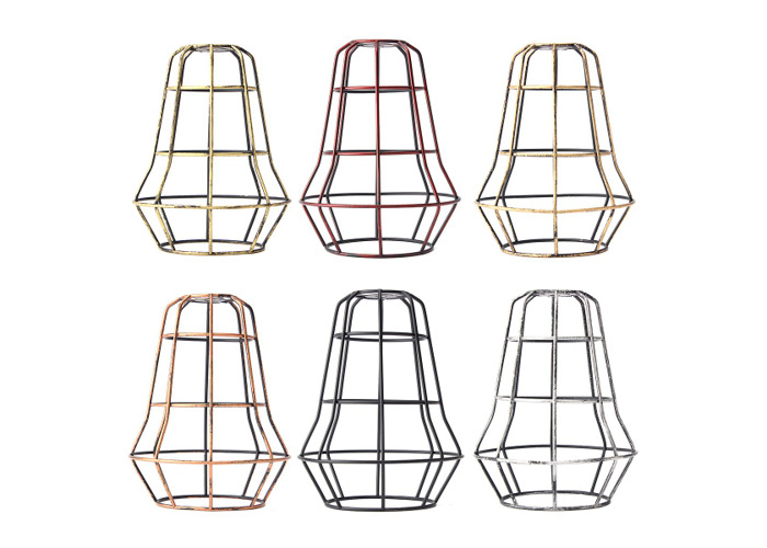 Vintage Pendant Trouble Light Tower Shape Hanging DIY Lampshade - 1