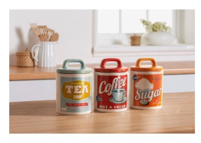 Buy Vintage Retro Style Ceramic Tea Coffee Sugar Canisters