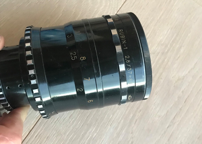Vintage Russian Rubin-1 Cinema Zoom lens PL Mount  - 2
