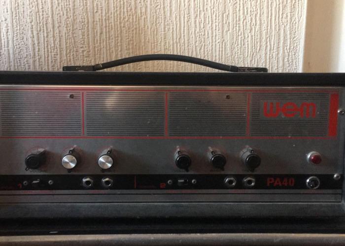 Amplificador vintage WEM PA40 para guitarra, bajo, piano, vox - 1