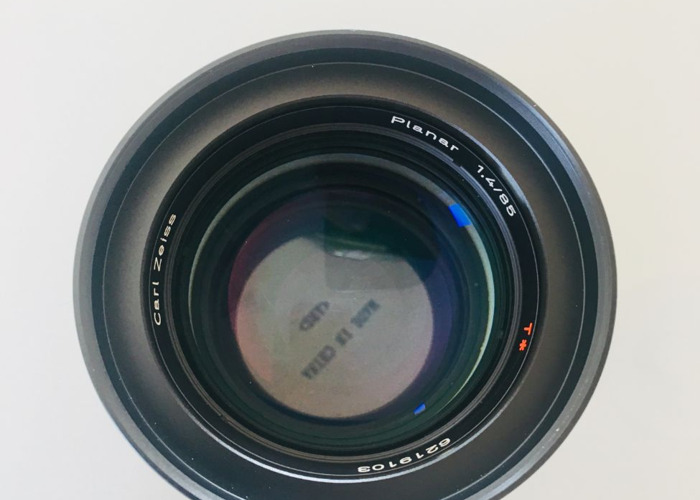 Vintage Zeiss Contax 85mm EF Lens  EF (Canon) mount  - 2