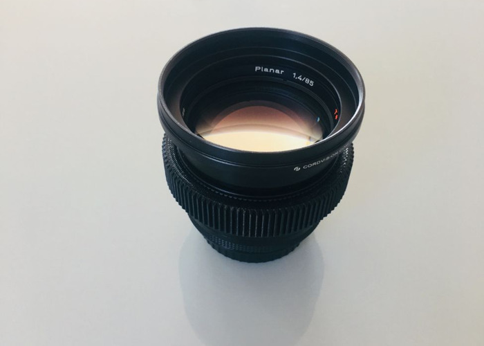 Vintage Zeiss Contax 85mm EF Lens  EF (Canon) mount  - 1