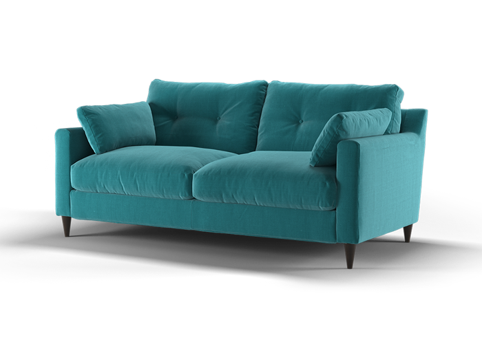 Virtue 3 Seater Sofa - Cozy Teal