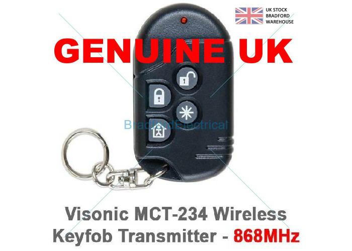 VISONIC POWERMAX WIRELESS KEYFOB MCT234  0-2381-1 - 1