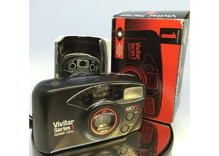 VIVITAR SERIES 1 480 PZ POWER ZOOM COMPACT CAMERA 30-70mm with AUTO FOCUS#75 - 1
