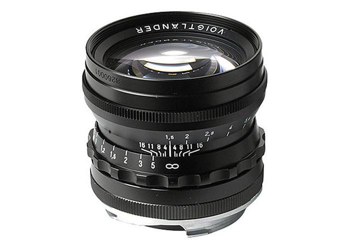 Voigtlander 50mm f1.5 VM ASPH Vintage Line Nokton Black Lens - 1